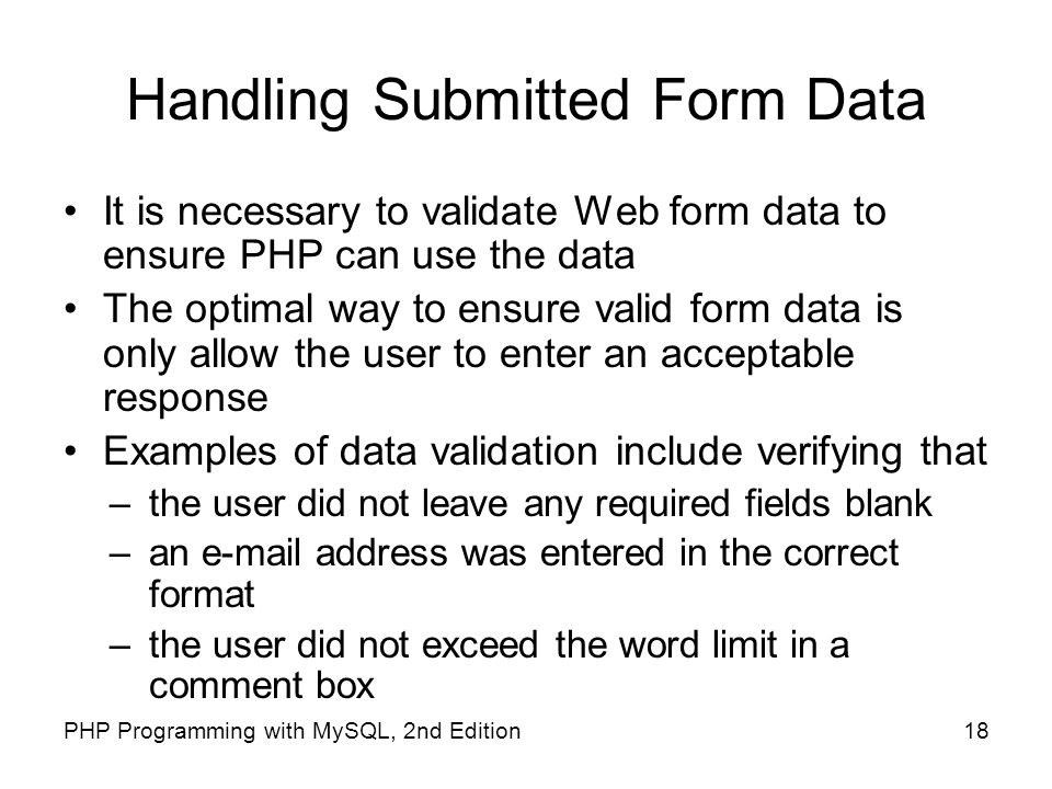 Handling Submitted Form Data