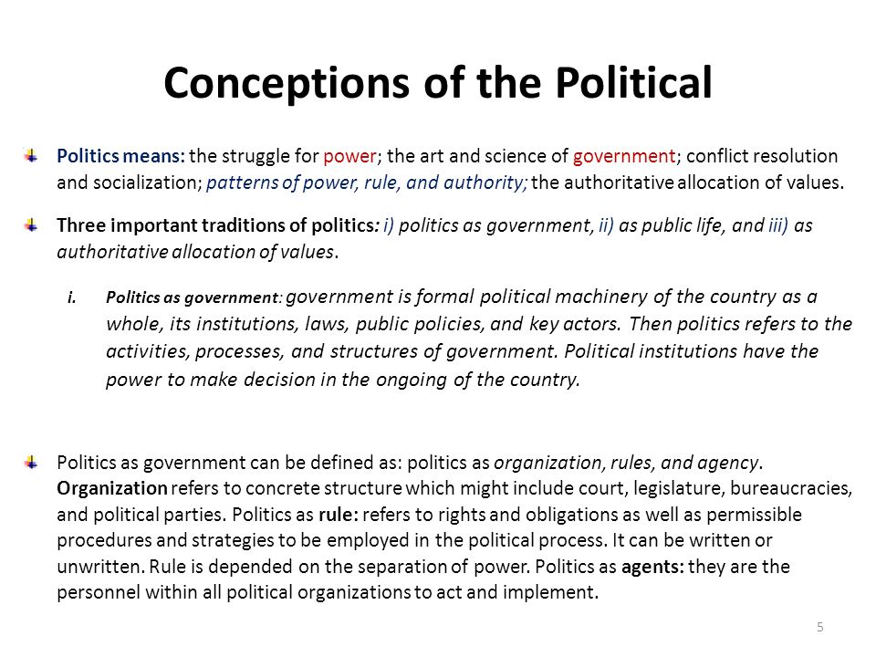 Conceptions of the Political