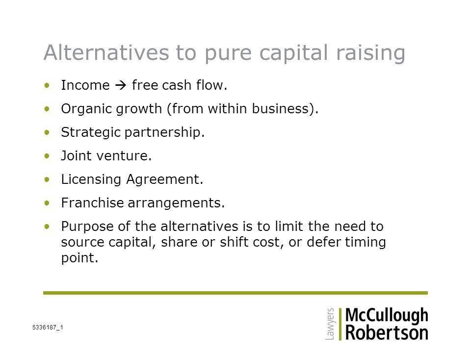 Capital Raising Alternatives Ppt Video Online Download