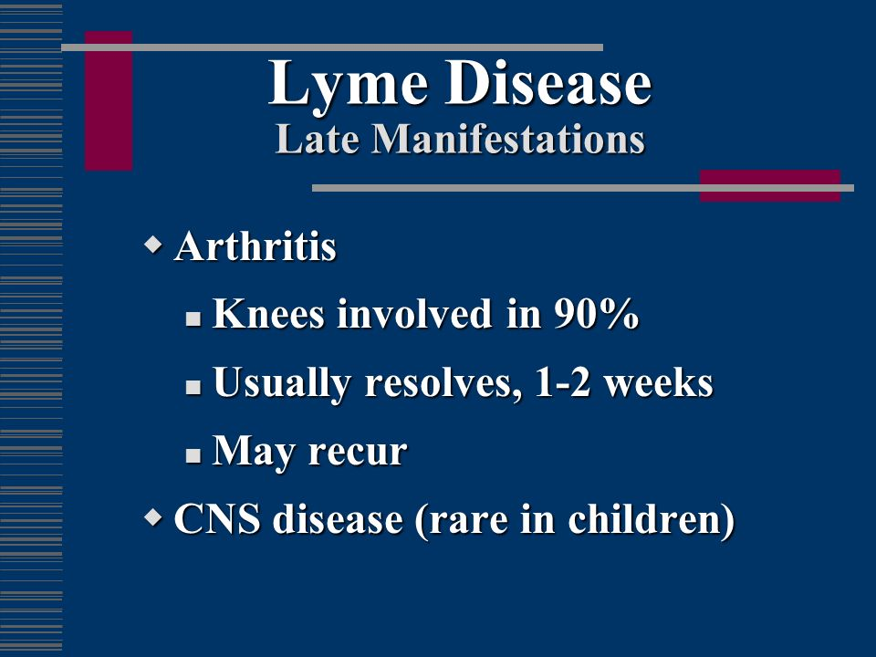 Lyme Disease Late Manifestations