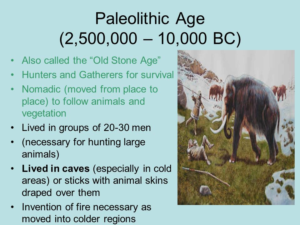 the paleolithic age is also known as the