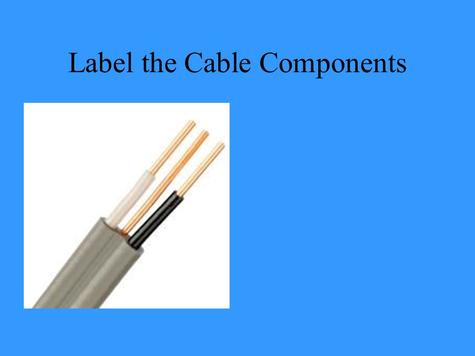 Label the Cable Components