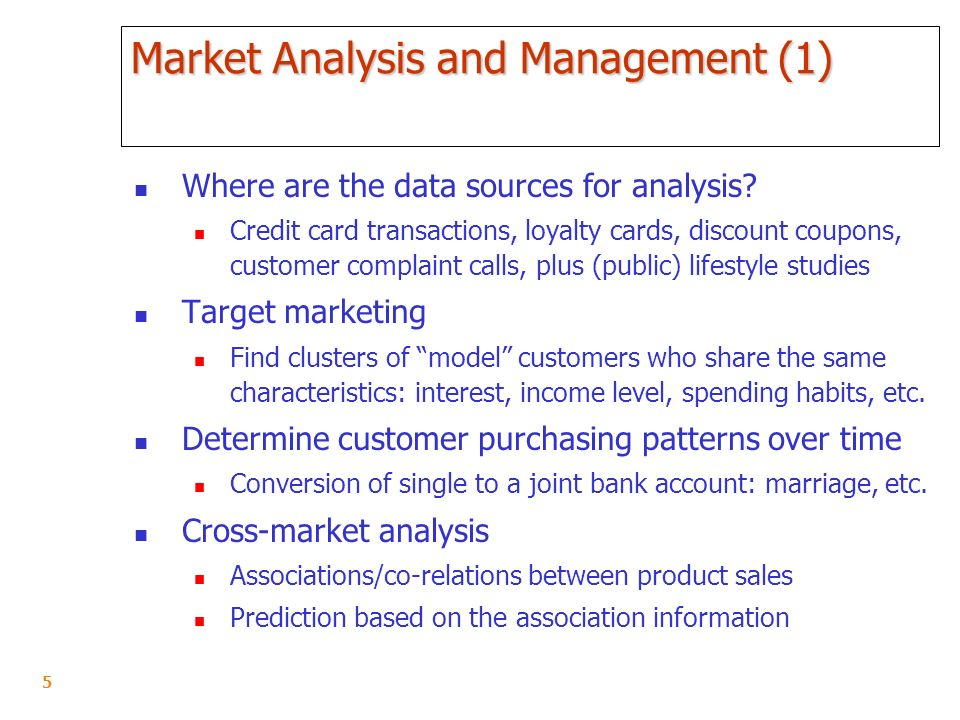 Data Mining Techniques As Tools for Analysis of Customer
