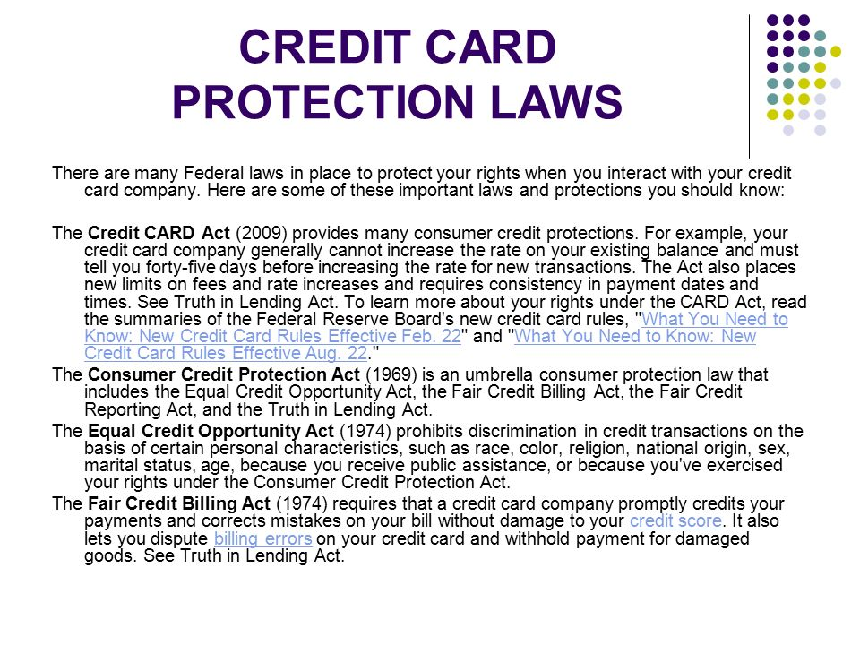 impact of consumer credit laws The uniform consumer leases act (ucla) was promulgated in 2001 by the national conference of commissioners on uniform state laws (nccusl) to provide substantive contractual and procedural protections to consumer lessees of personal property.