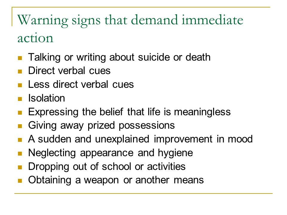 Warning signs that demand immediate action