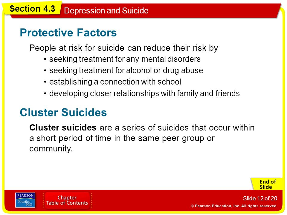 Protective Factors Cluster Suicides