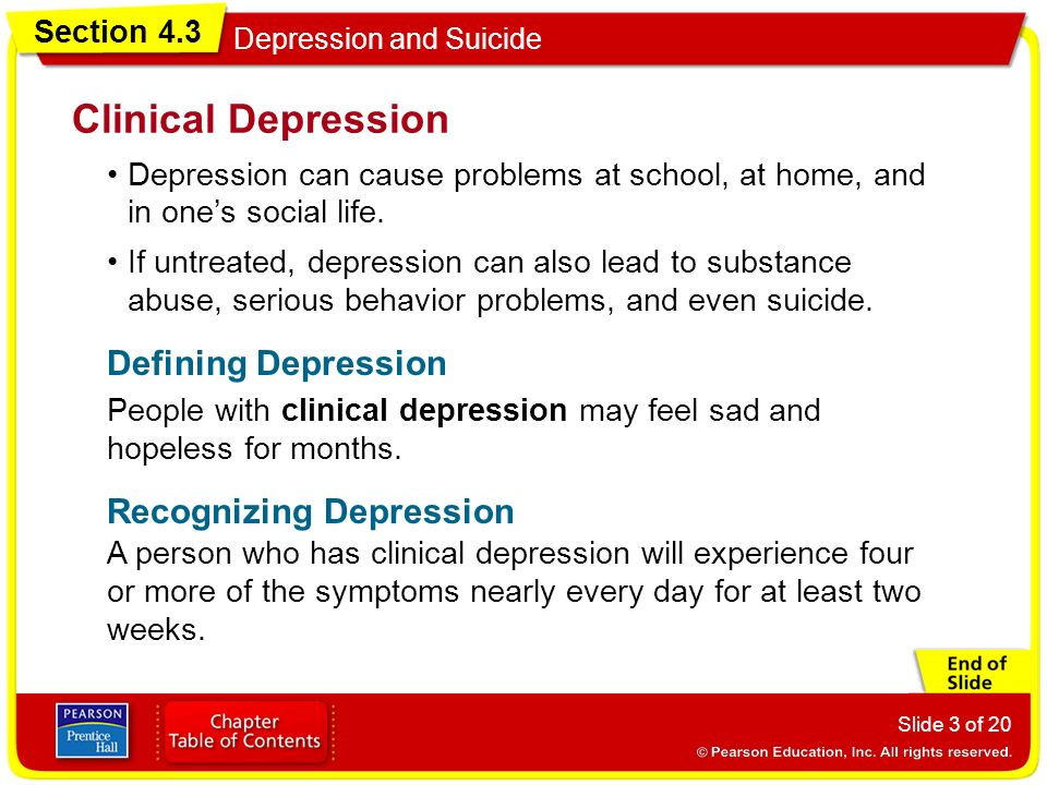 Clinical Depression Defining Depression Recognizing Depression