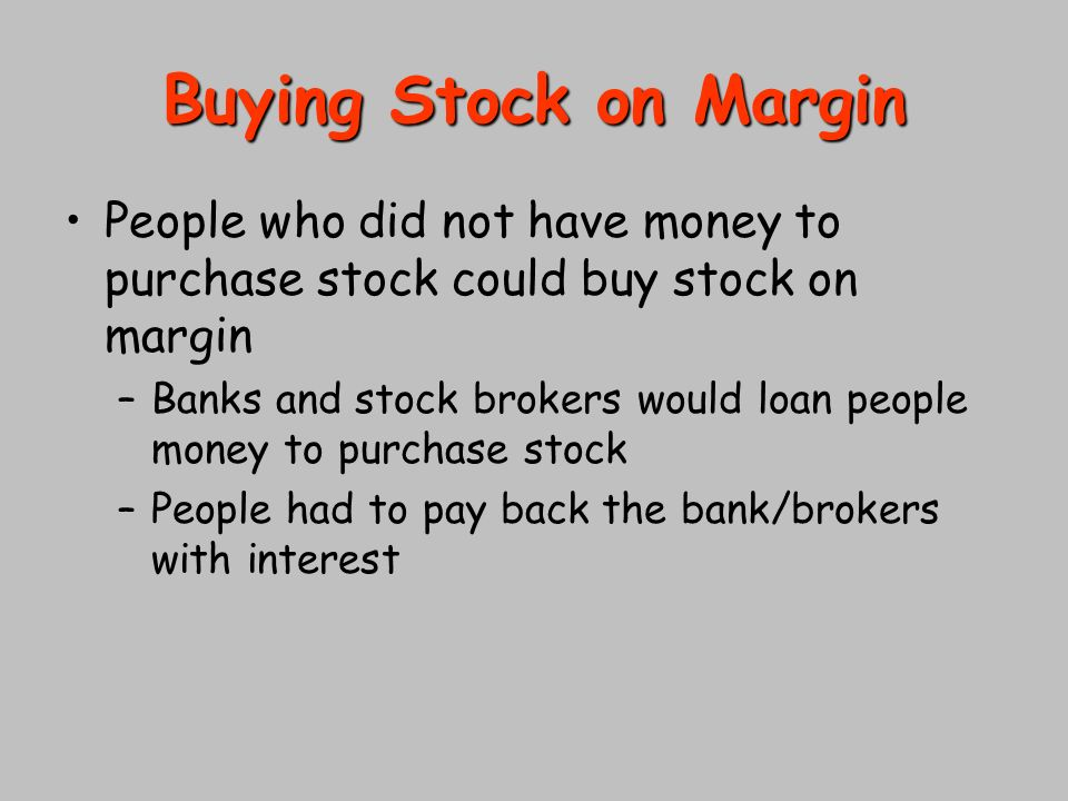 Advice for Investors | This is no time to buy stocks on margin