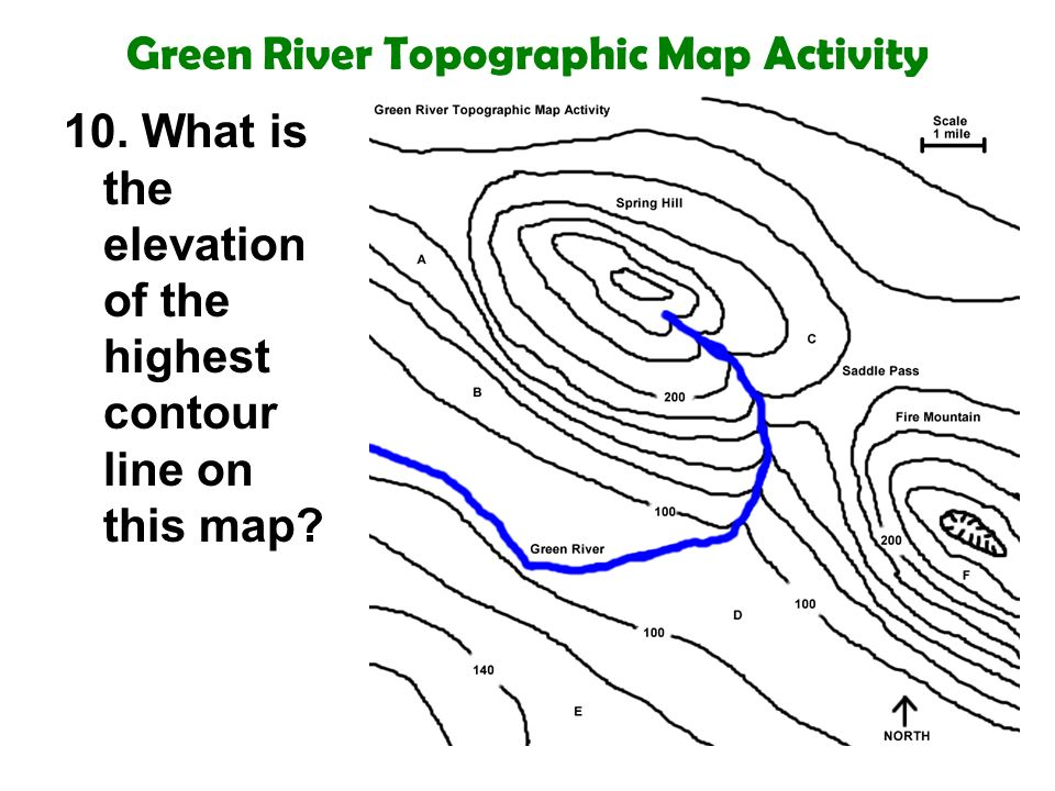 Topographic Map Of A Mountain.Topography Topographic Maps 8th Grade Science Ppt Video Online