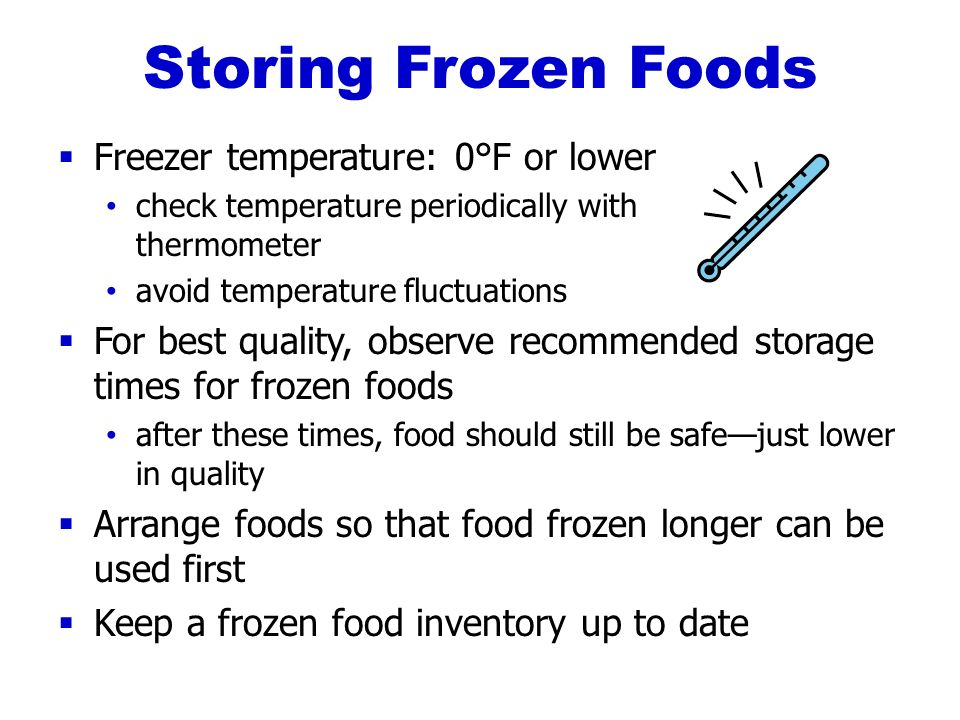 Frozen Food Best If Used By Date