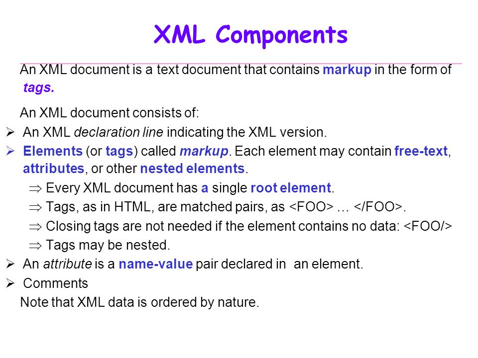Database Systems Part VII XML ppt video online download