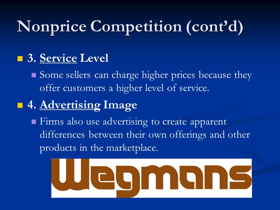 Nonprice Competition (cont'd)