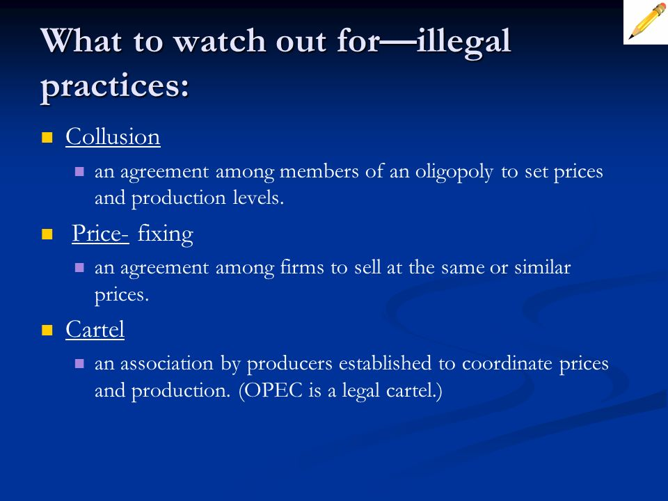 What to watch out for—illegal practices: