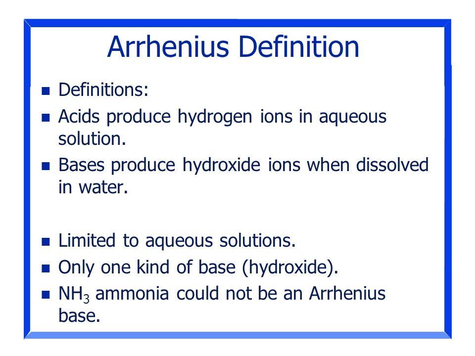 Arrhenius Definition Definitions: