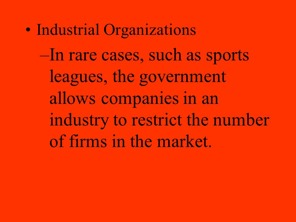 Industrial Organizations