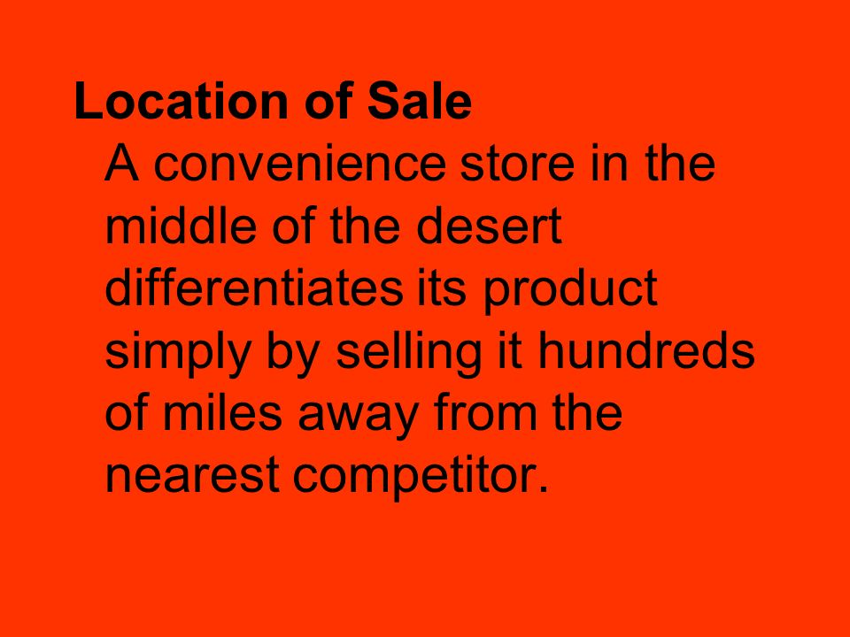 Location of Sale