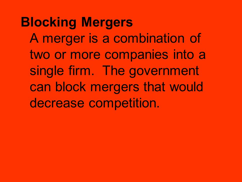 Blocking Mergers