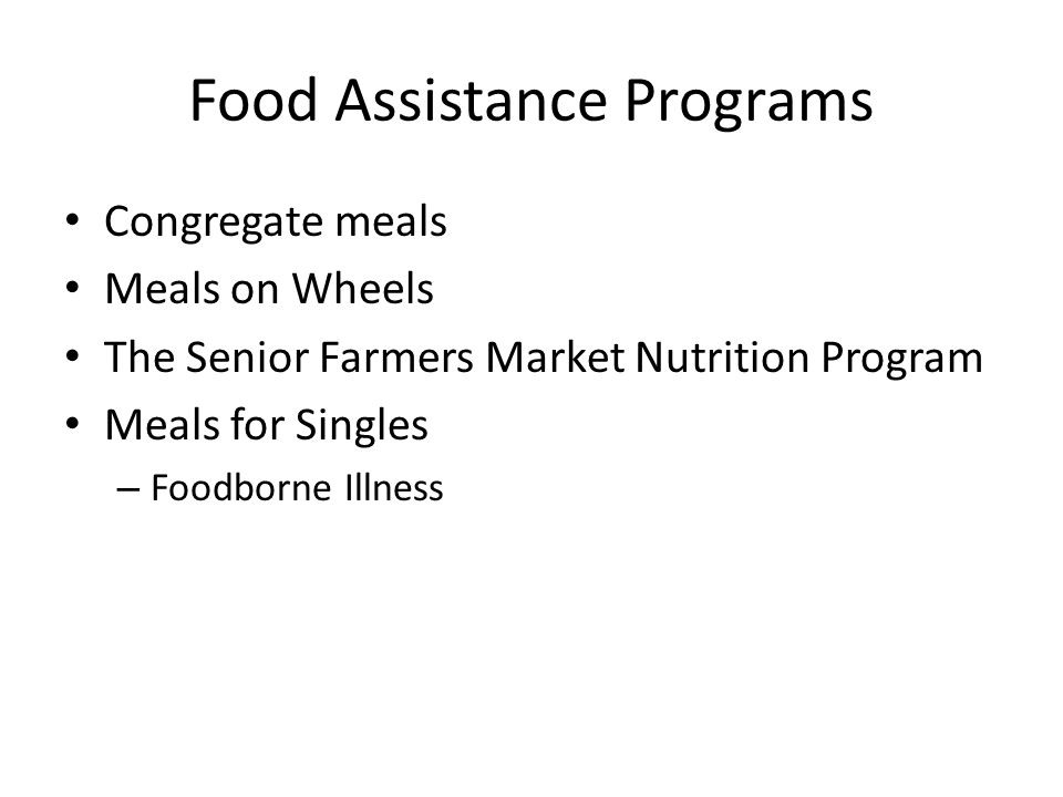 Food Assistance Programs