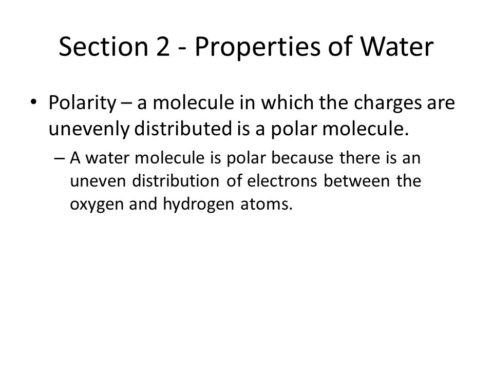 Section 2 - Properties of Water