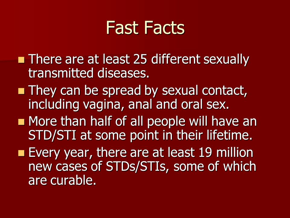 Sexually transmitted diseases passed through saliva