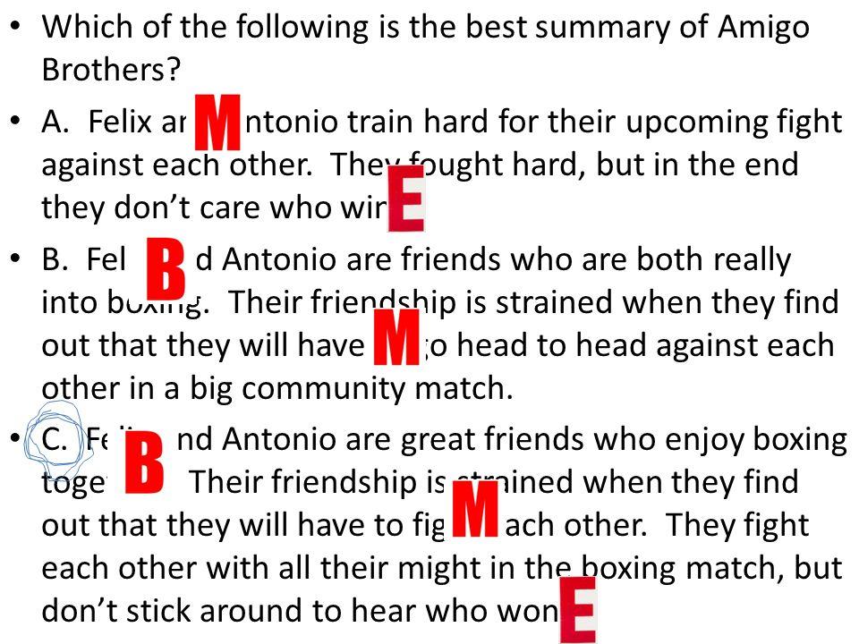 amigo brothers summary