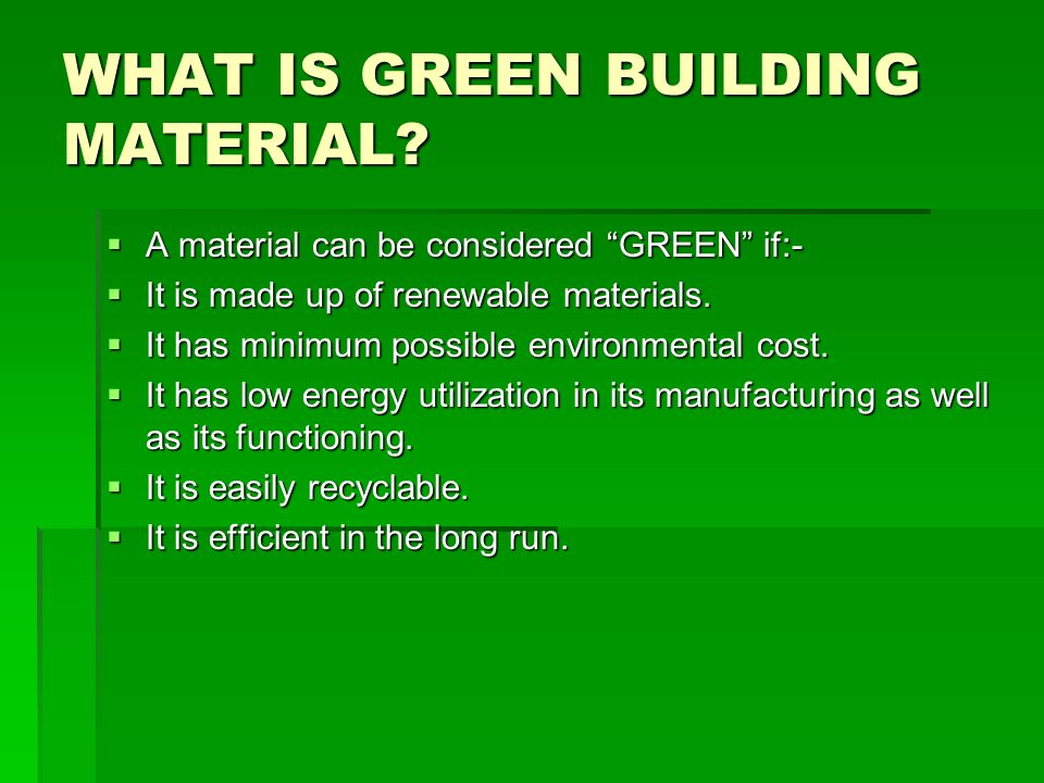 Low Cost Building Materials