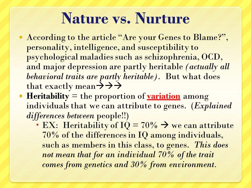 nature v nurture articles