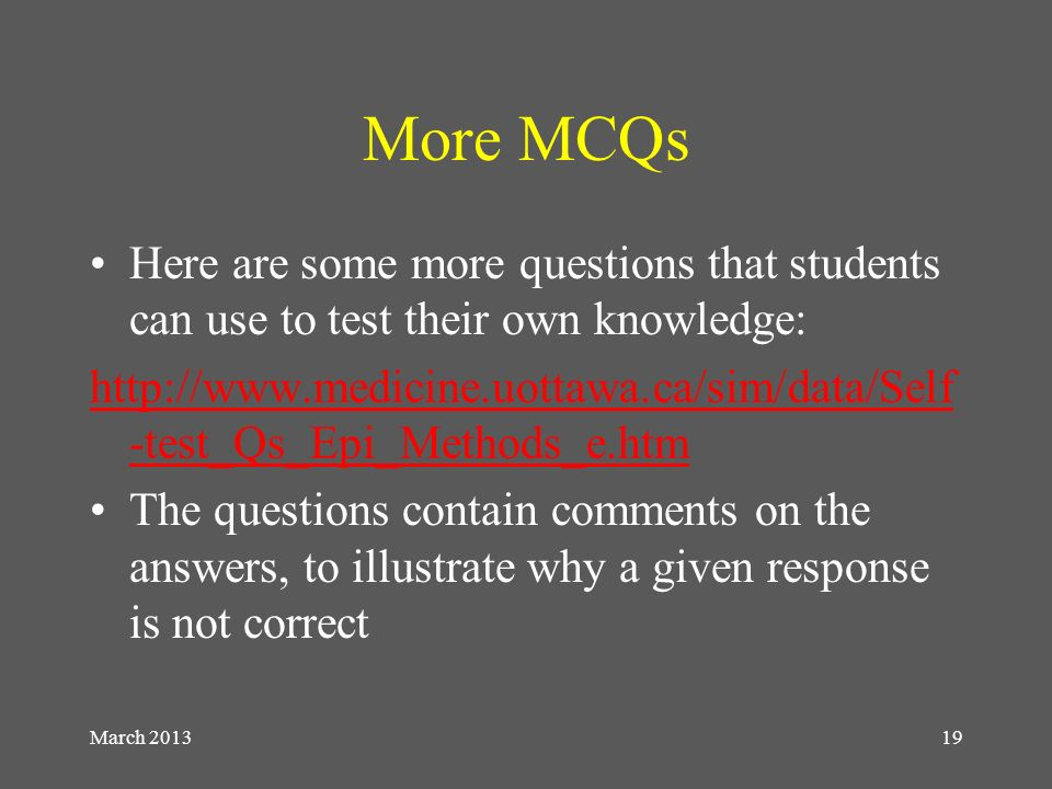 Multiple Choice Questions for discussion - ppt video online