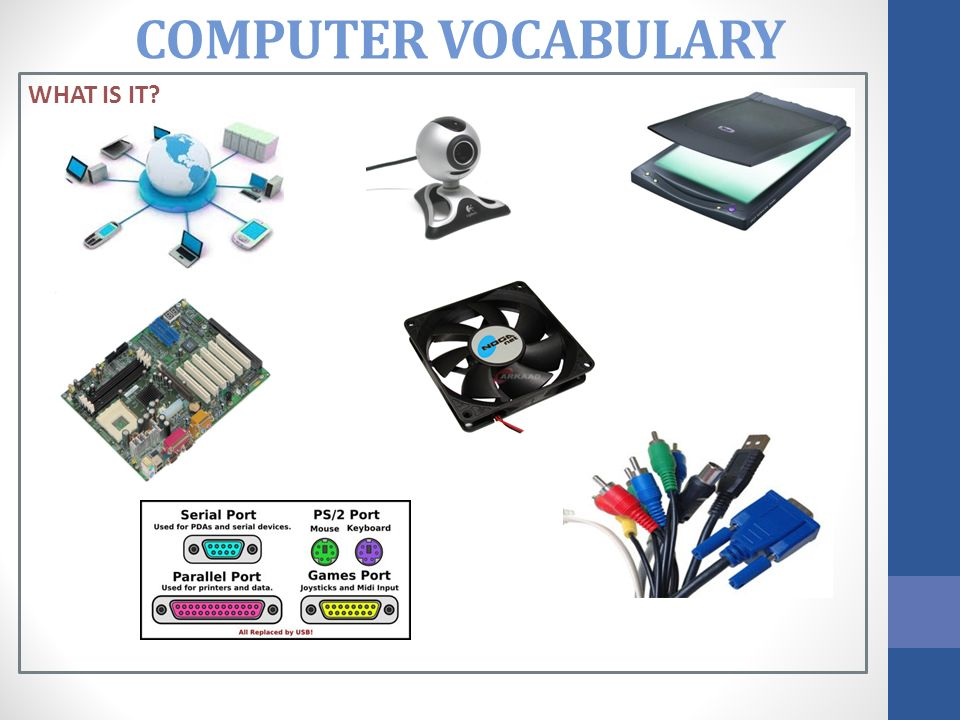 COMPUTER VOCABULARY WHAT IS IT