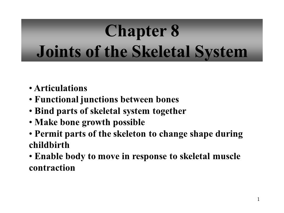 Chapter 8 Joints of the Skeletal System - ppt download