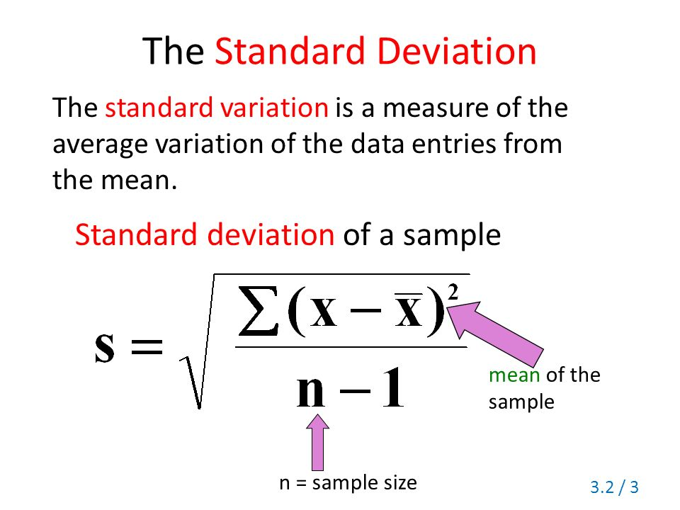 how to get the mean and standard deviation in excel