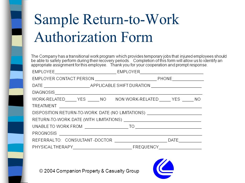 Return To Work  Transitional Jobs - ppt download