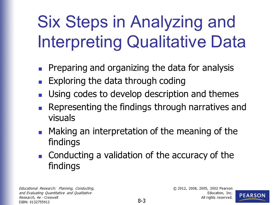 Analyzing and Interpreting Qualitative Data - ppt video online download