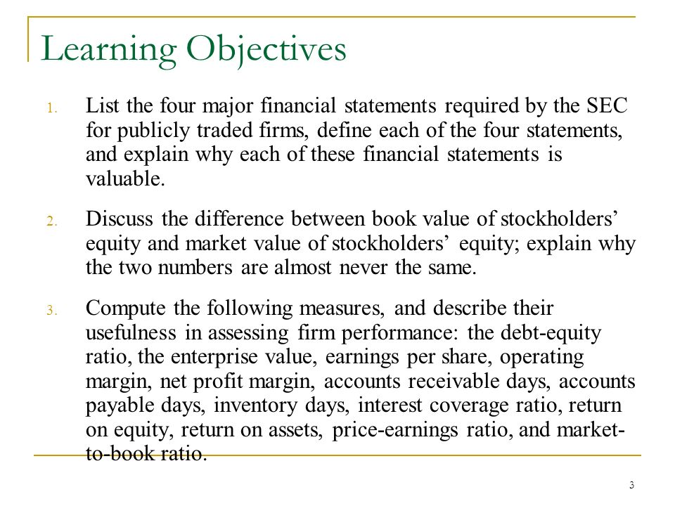 introduction to financial ratios and financial statement analysis