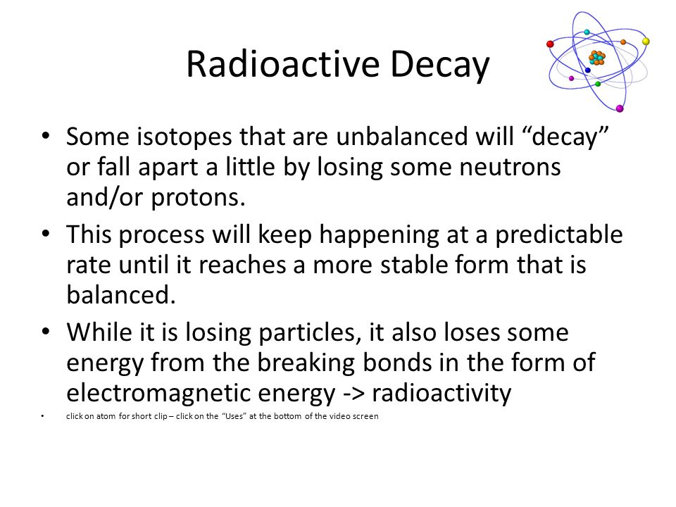 radioactive dating meaning in chemistry