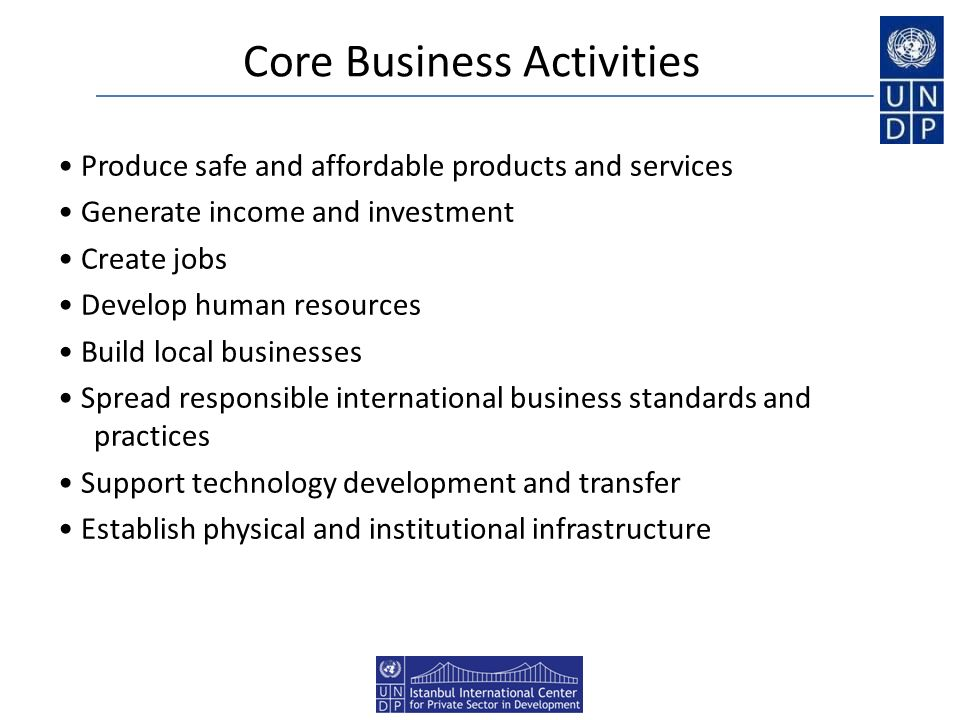 Core Business Activities