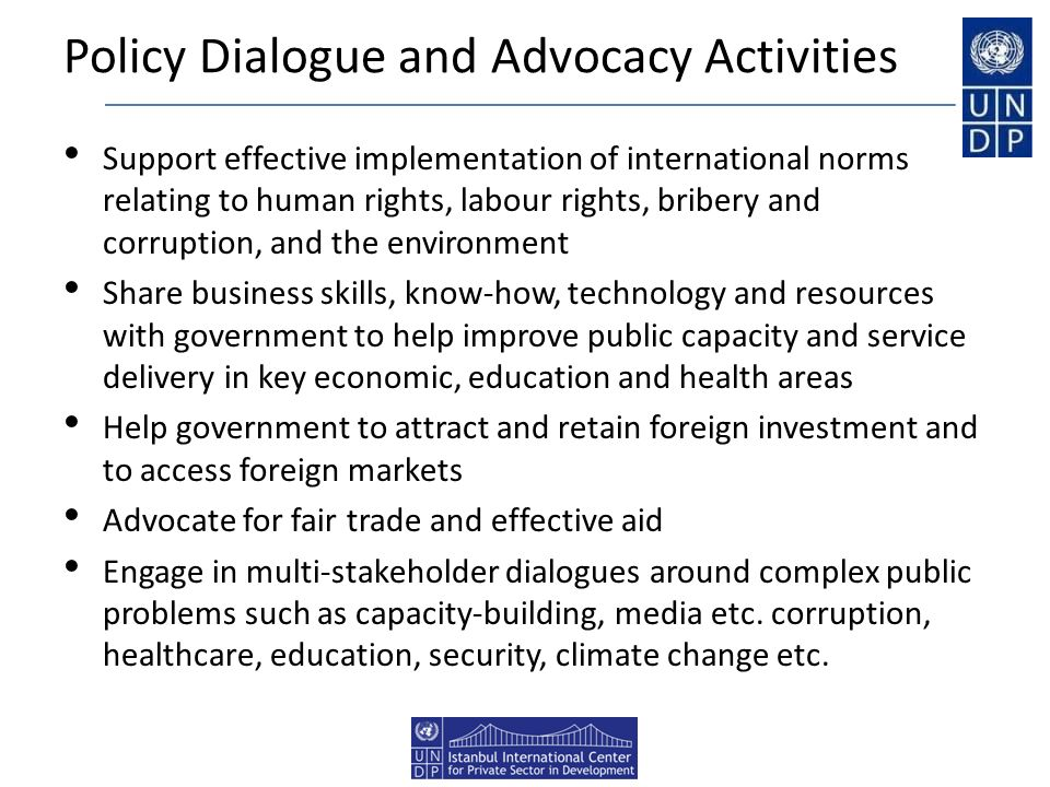 Policy Dialogue and Advocacy Activities