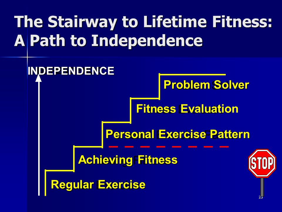 The Stairway to Lifetime Fitness: A Path to Independence