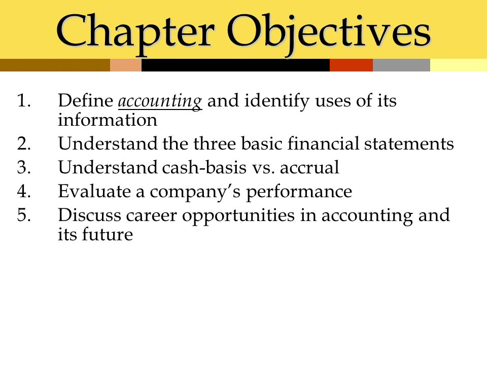 main objectives of accounting