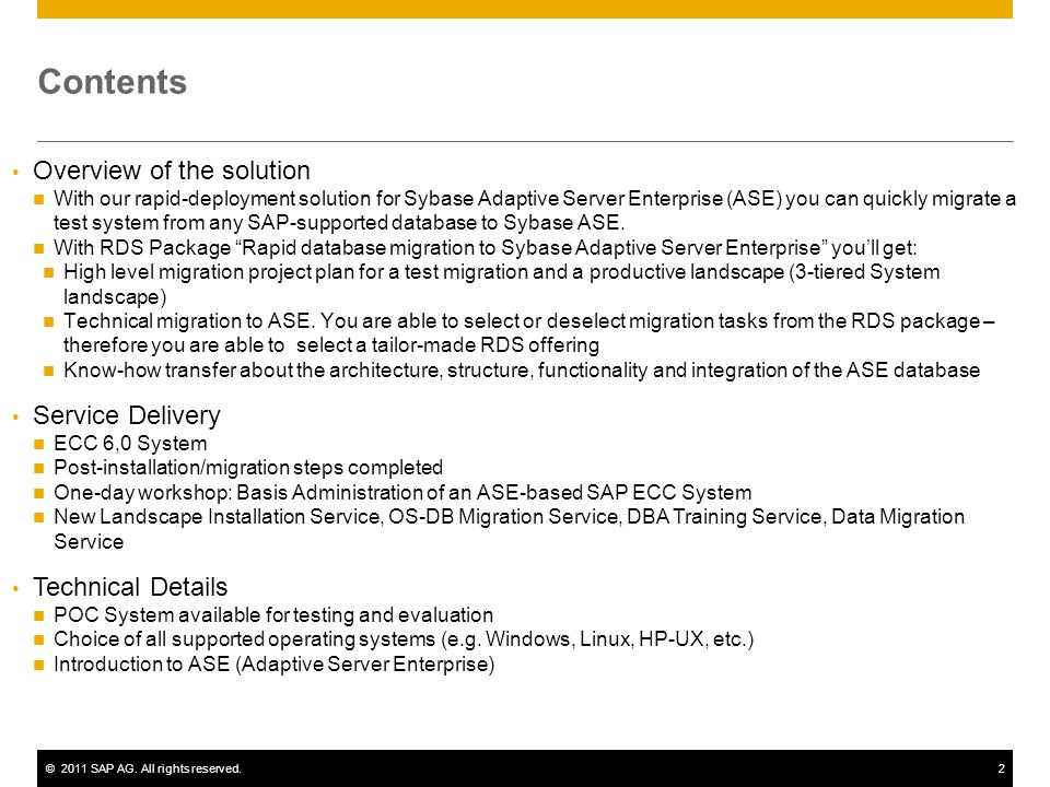 Contents Overview of the solution Service Delivery Technical Details