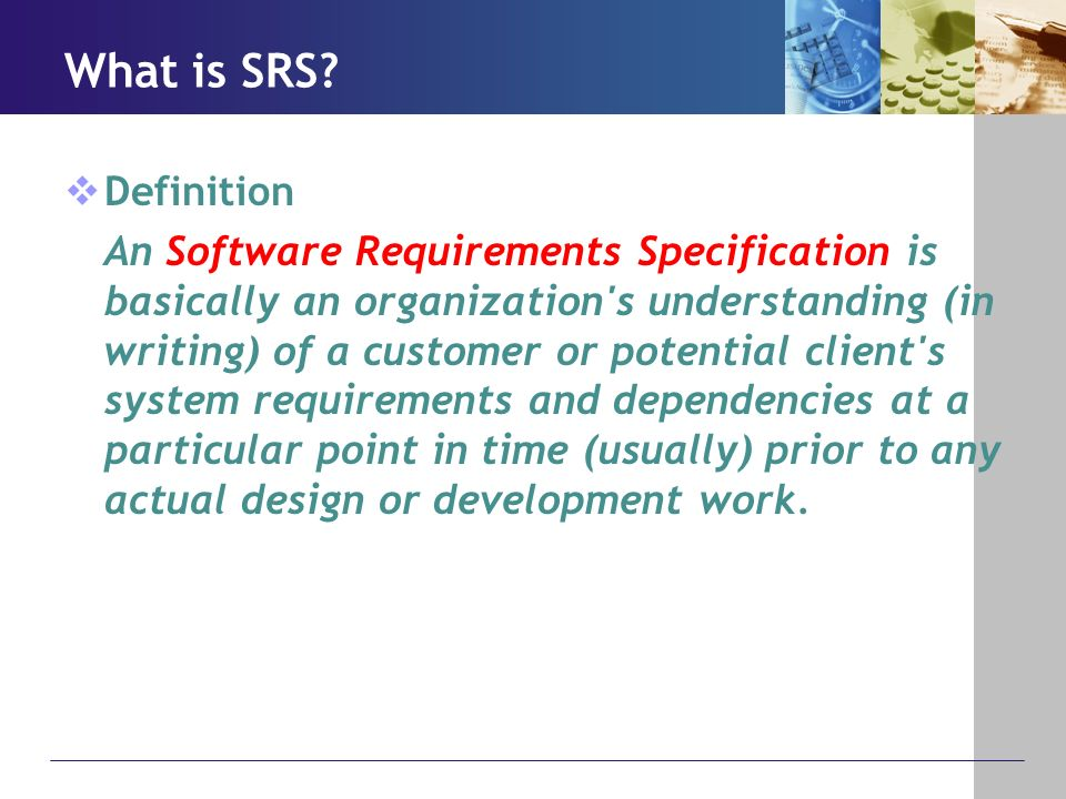 What Is Srs >> Software Requirements Specification Srs Ppt Download