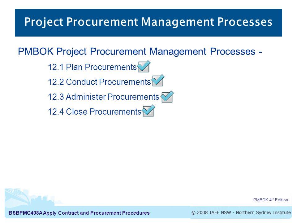 Apply Contract And Procurement Procedures Procurement Processes