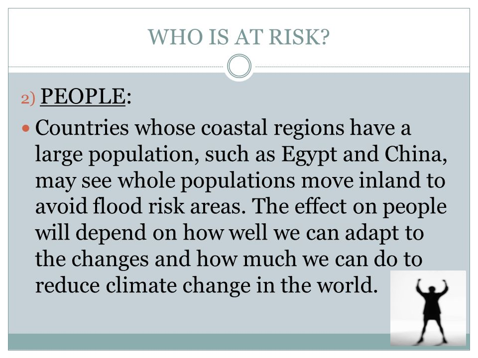 WHO IS AT RISK 2) PEOPLE: