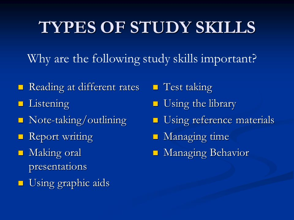importance of studying as a student