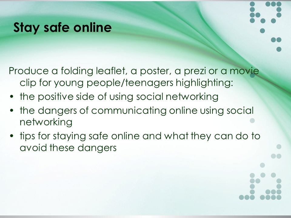 How to communicate safely online