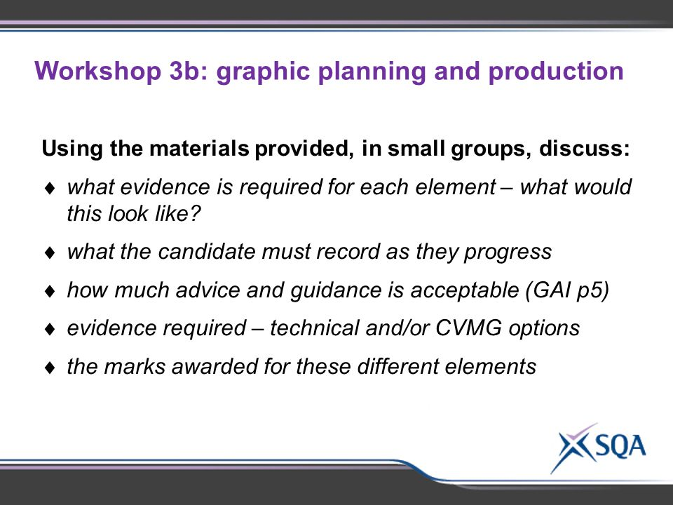 Workshop 3b: graphic planning and production