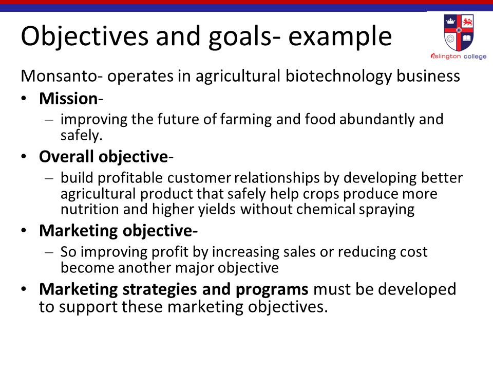 red bull objectives and goals