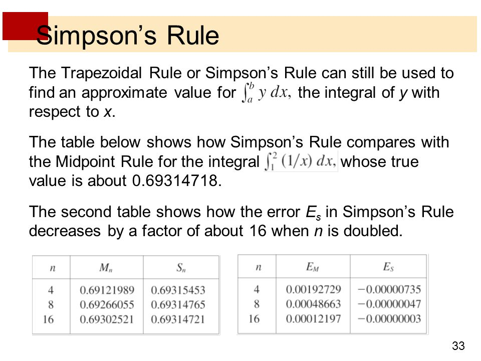 Trapezoidal rule example ppt.