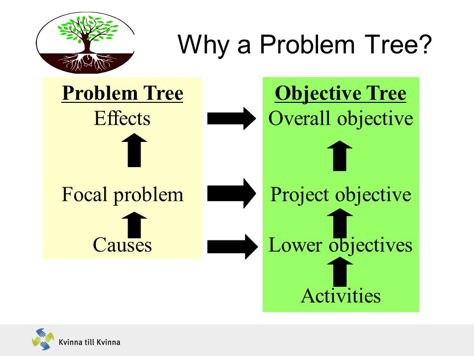 Why a Problem Tree Problem Tree Effects Focal problem Causes
