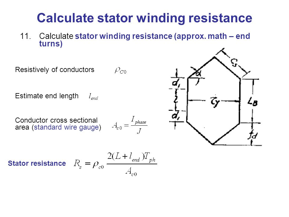 Traditional design of cage rotor induction motors ppt download calculate stator winding resistance greentooth Gallery